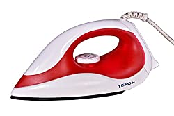 Tefon 1000W Light Weight Electric Dry Iron/Press for Everyday Purposes (Colour May Vary)