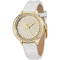 Just Cavalli Women's Quartz Watch with Silver JC01 Analog Quartz Leather R7251571504