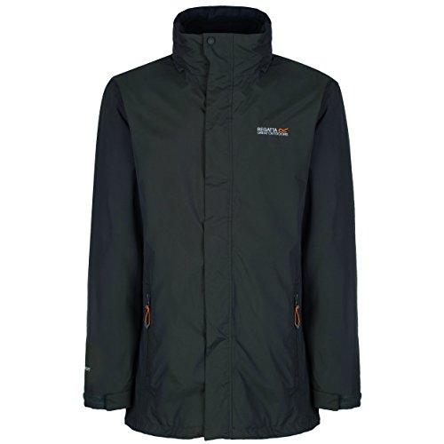 Regatta Mens Telmar Waterproof Fleece Midlayer 3 In 1 Jacket Black Bayleaf
