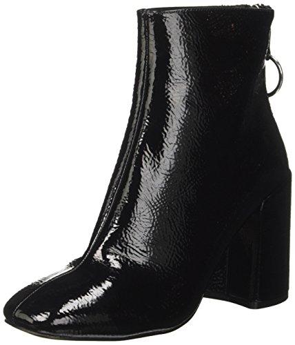 Steve Madden Damen Posed Kurzschaft Stiefel, Schwarz (Black Patent), 37 EU (Leder-booties Patent)