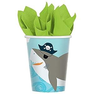 Amscan International Amscan 9904651 - Vasos de papel (250 ml, 8 unidades), color azul