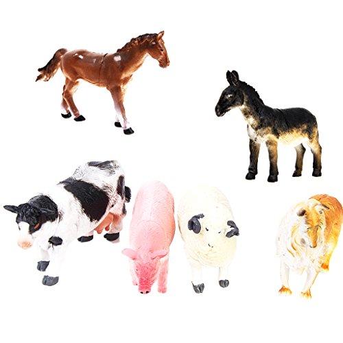 6pcs-animaux-de-ferme-jouet-figurines-chien-cochon-vache-mouton-cheval-ane