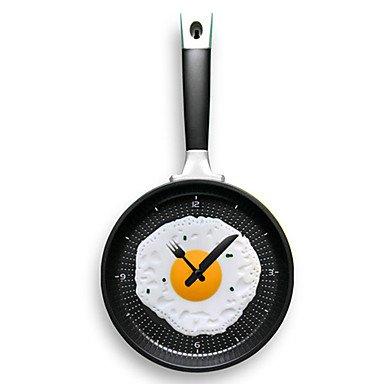 Y & M Tapisserie et frire les oeufs en forme de poêle Horloge (couleurs aléatoires)