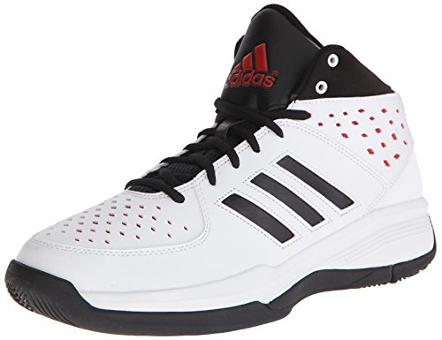Adidas Performance Court Fury Basketballschuh, weiÃ? / schwarz / rot, 9 M Us