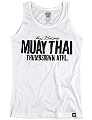 Muay Thai. Thai Boxing Tank Top. Vest. Thumbsdown Athletic. Thumbsdown Last Fight. Gladiator Bloodline. Martial Arts. Fightwear. Training. Casual. Gym. MMA T-shirt