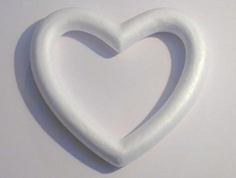 Craftmill Polystyrene Open Heart Wreaths 30cm / 300mm - Box of (5)