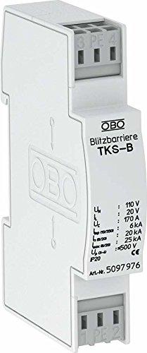OBO Bettermann Vertr Blitzbarriere TKS-B 120V AC Blitzstromableiter für Informations-/MSR-Technik 4012195578277