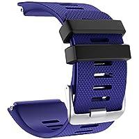 Cooljun Compatible Garmin vivoactive HR,Bracelet de Montre Sport en Silicone Souple