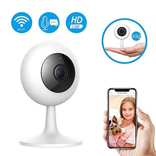 LCLrute ÜberwachungsKamera HD 1080P,110Grad - Weitwinkelobjektiv,Vollständige 360Grad   - Panoramabetrachtung,2,4-GHz-WLAN,IR-CUT Auto Switch Filter (720 P, Weiß)