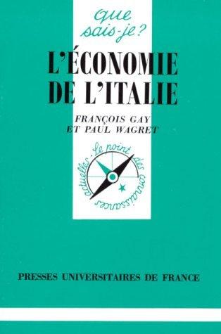L'Economie de l'Italie