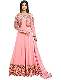 Vivaa Fashion Peach Georgette Designer Anarkali Suit VF23466