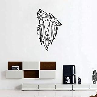 Geometrische Wolfskopf Muster Kreative Entfernen Vinyl Selbstklebende Home Art Deco Wandaufkleber