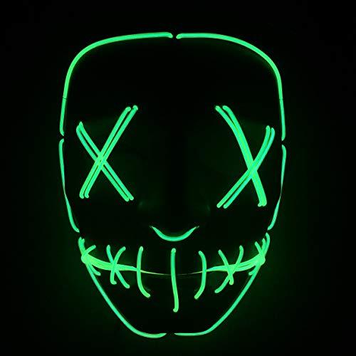 Yool Halloween Maske LED Leuchten Party Masken Die Reinigung Wahl Jahr Große Lustige Masken Festival Cosplay Kostüm Liefert Glow In Dark,Green