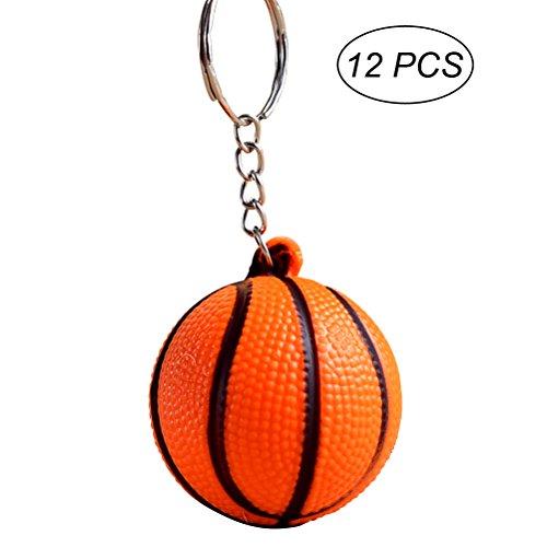 YeahiBaby 12pcs Deportes Llavero Baloncesto Colgante