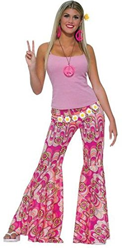 Female Flower Power Bell Bottom Trousers