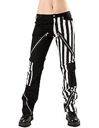 Black Pistol Freak Pants Stripe Black-White