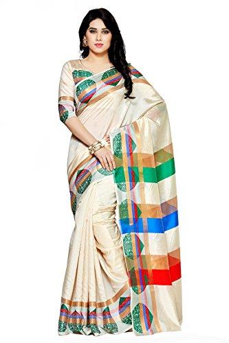 Mimosa By Kupinda Women's Art Silk Saree KanchipuramStyle (Latest Designer Sarees /Party...