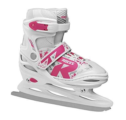 Roces Kinder Jokey Ice 2.0 Verstellbarer Schlittschuh, White/Fuchsia, 34-37