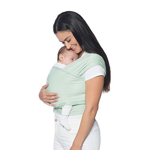 Ergobaby Babytragetuch für Neugeborene ab Geburt bis 11kg, Sage Baby Tragetuch Elastisch Atmungsaktiv, Sling aus 100{b47766bcd1691238303a00222f278a37a01a71ad622fb621ffa6eba17f8a2733} Viskose