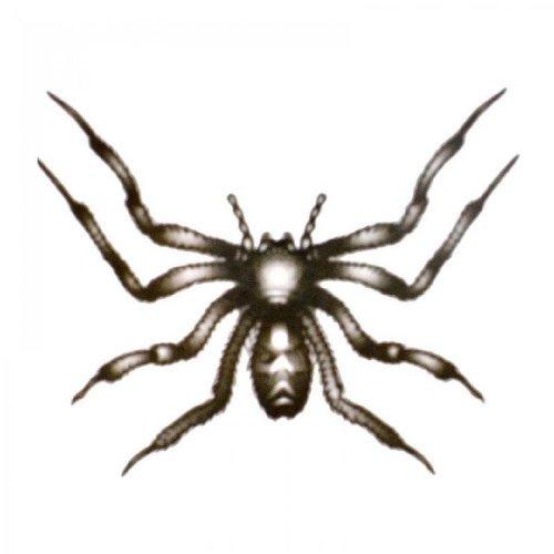 ungiftig temporäre Tätowierung stickersWaterproof schwarz temporäre Tattoos Insekten acht Fuß haarige Spinnen (Haarigen Fuß)