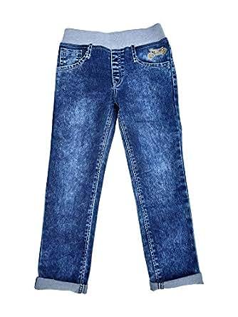 243a2c22f64 chopper club 1-8 Years Boys Dark Blue Jeans with Round Elastic ...
