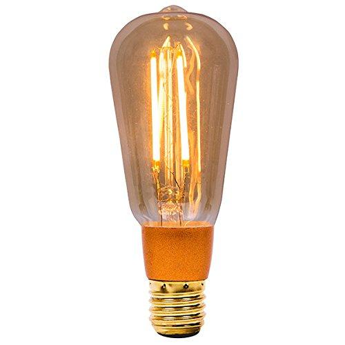 Amber Bell (Bell 3er Pack 4w LED ES / E27 großer Edisonsockel Amber Bernsteingelb Vintage Squirrel Cage Retro Lampe dimmbar (01469))
