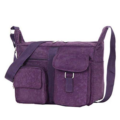 Sacchi Borse Yy.f Casuali Pacchetto Diagonale Sacchetto Di Spalla Donne Lavare Panno Pratico Borse Eleganti Esterni Interni Multicolore Purple