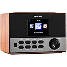 auna Connect 90 WD internet radio digitale, legno (mediaplayer, bluetooth, sintonizzatore WLAN, telecomando)