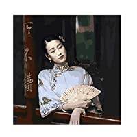 ayuxin Room Decor Chinese Woman Beautiful Oil Painting Pictures By Number Digital Pictures Coloring By Hand Unique Gift Home Decoration