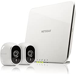 Netgear Arlo VMS3230-100EUS - Sistema inteligente de cámaras IP 100% libres de cables para video (2 unidades, montaje en interior y exterior resistentes al agua, no sumergible)