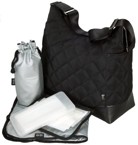 oioi-diamond-quilt-hobo-baby-changing-bag-black-with-metallic-silver-lining-and-accessories