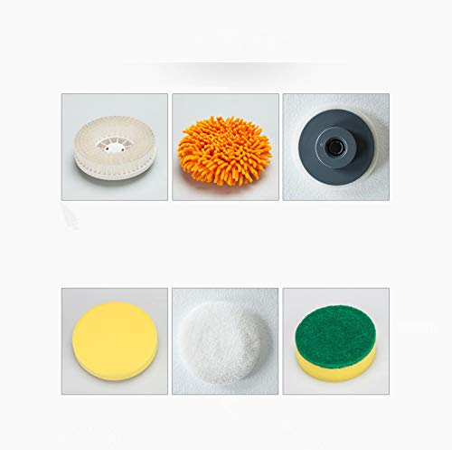 Grünes Glas-türen (bgmseller Cxz elektrische Reinigungsbürste, Rotationswäscher, 3 Separate abnehmbare rotierende Bürstenköpfe für Küche, Bad, Spüle, Fensterrahmen, Glas, Tür (Grün))