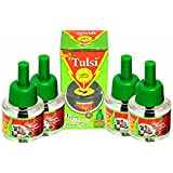 TULSI Herbal Liquid Mosquito Repellent Vaporizer Refill (Set Pack Of 4)