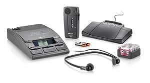 Philips LFH0064 Pocket Memo Diktier- und Wiedergabe Set Mini-Kassette, anthrazit