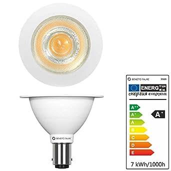 led lampe beneito faure max ar70 ba15d leuchtmittel b15d 7w 12v 24 warmwei neu 2016. Black Bedroom Furniture Sets. Home Design Ideas