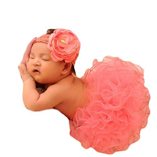 QHGstore Europa Fotografia Props Bambino Abbigliamento bambino appena nato fotografia Puff pannello esterno infantile Gonne ragazze autunno pannello esterno del tutu