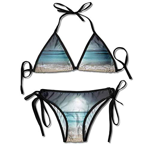 Women's Two Pieces Print Bikini Plus Size Cap Sleeve One Bikini Sets Bathing Suit Cap Sleeve Plus Size Cap