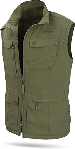 normani Herren Outdoor Weste mit Atmungsaktivem Sonnenschutzmaterial 50+ [XS-5XL] Farbe Oliv Größe XL