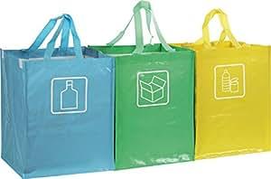 Set di 3 sacche contenitori per la raccolta differenziata - Contenitori raccolta differenziata ikea ...