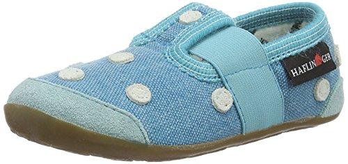 Haflinger Punktino, chaussons d'intérieur mixte enfant Blau (reseda)