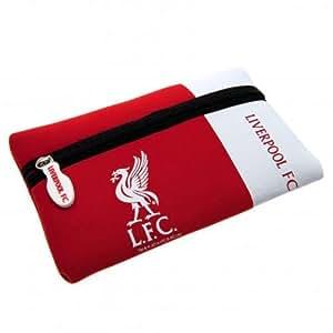 Liverpool F.C., Caseneoprene, Federmäppchen mit Reißverschluss, aus Gummi, ca. 21 x 12 cm mit Schaukel tag-Offizielles Fußball-Merchandising-Produkt