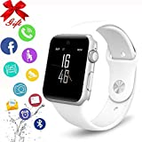 WADEO Bluetooth Smartwatch Smart Armbanduhr Kompatibel mit Android/IOS Fitness Tracker Armband Sportuhr mit Alarm/Schlaf Analyse/GPS Route Tracking Wasserdicht Fitness Intelligente Smart Uhr Telefon
