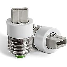 AWE-LIGHT E27 a G9 Convertidor Adaptador de Bombilla Lampara LED Base Enchufe de Tornillo, 6 unidades