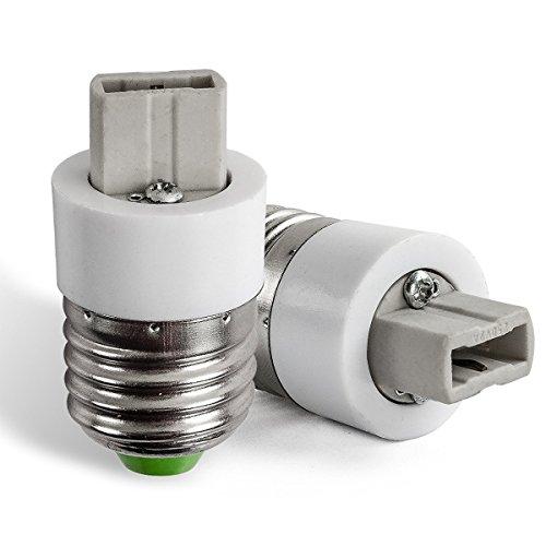 AWE-LIGHT E27/E14 vers MR16 GU5.3 G4 GU4 MR11 Ampoule de Douille Convertisseur Adaptateur, 6er-Set (E27-G9)