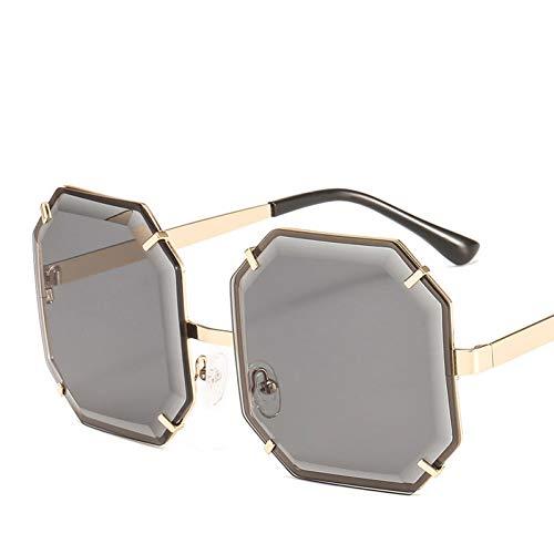Taiyangcheng Polarisierte Sonnenbrille Übergroße Quadratische Sonnenbrille Frauen Männer Mode Achteck Ozean Objektiv Sonnenbrille Für Frauen Marke Shades Brillen Uv400,grau