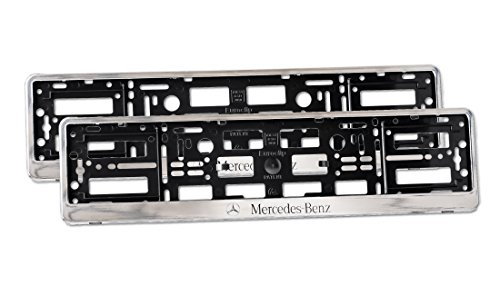 2-x-number-plate-holders-glossy-chrome-finish-car-registration-surrounds-front-rear-frames-for-merce