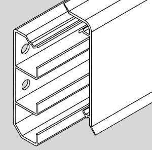 Ggk - Plinthe Electrique PVC 20 x 70 mm par 24 mètres