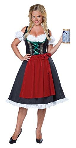 Oktoberfest Kostüme Fraulein Womens (California Fancy dress costumes Womens Womens Oktoberfest Fraulein Fancy dress costume Large by California)