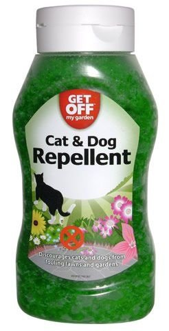 Repellent Außen Hunde Katzen in Kristallen 460 g GET OFF MY GARDEN Cat & Dog Repellent
