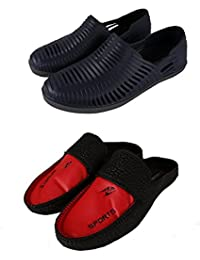 Falcon18 Combo Pack Of 2 Eva Sole For Durability, Shoes Style, Preimum Quality/Men's Slip-on/Variant Colours.